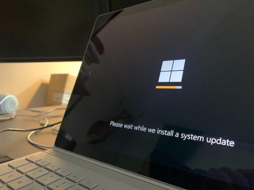 Microsoft laptop loading update
