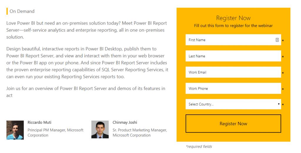 Self-service BI and enterprise reporting on-premises