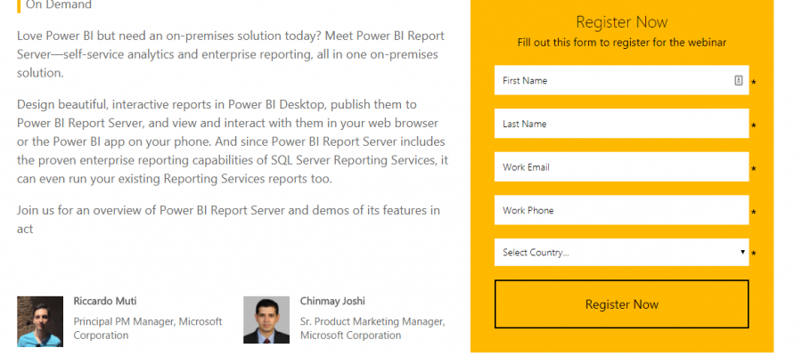 Self-service BI and enterprise reporting on-premises